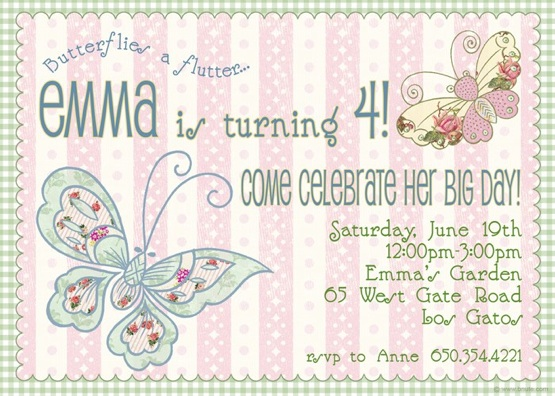 Butterfly Party Invitations Decorations Art Activites Games – Butterfly Party Invitation