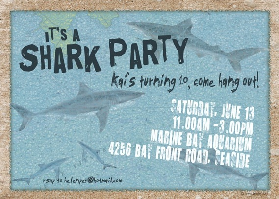 Shark Party Invitations Decorations Art Activites Games and More