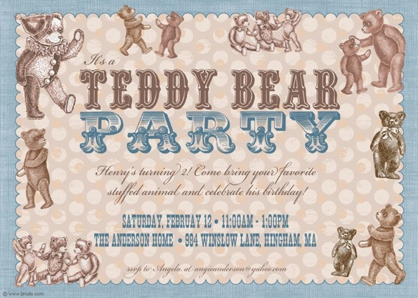 Teddy bear birthday invitations gallery coloring pages adult teddy bear party invitations decorations art activites games filmwisefo