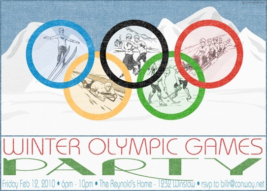 Winter Olympics Party Invitations Decorations Art Activites