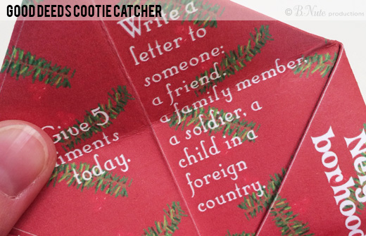 Good Deeds Cootie Catcher