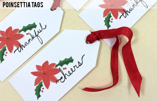 Poinsettia Tags