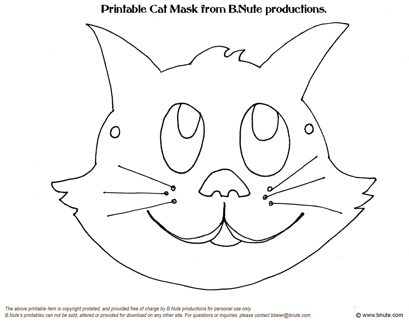 Ridiculous image for printable cat mask