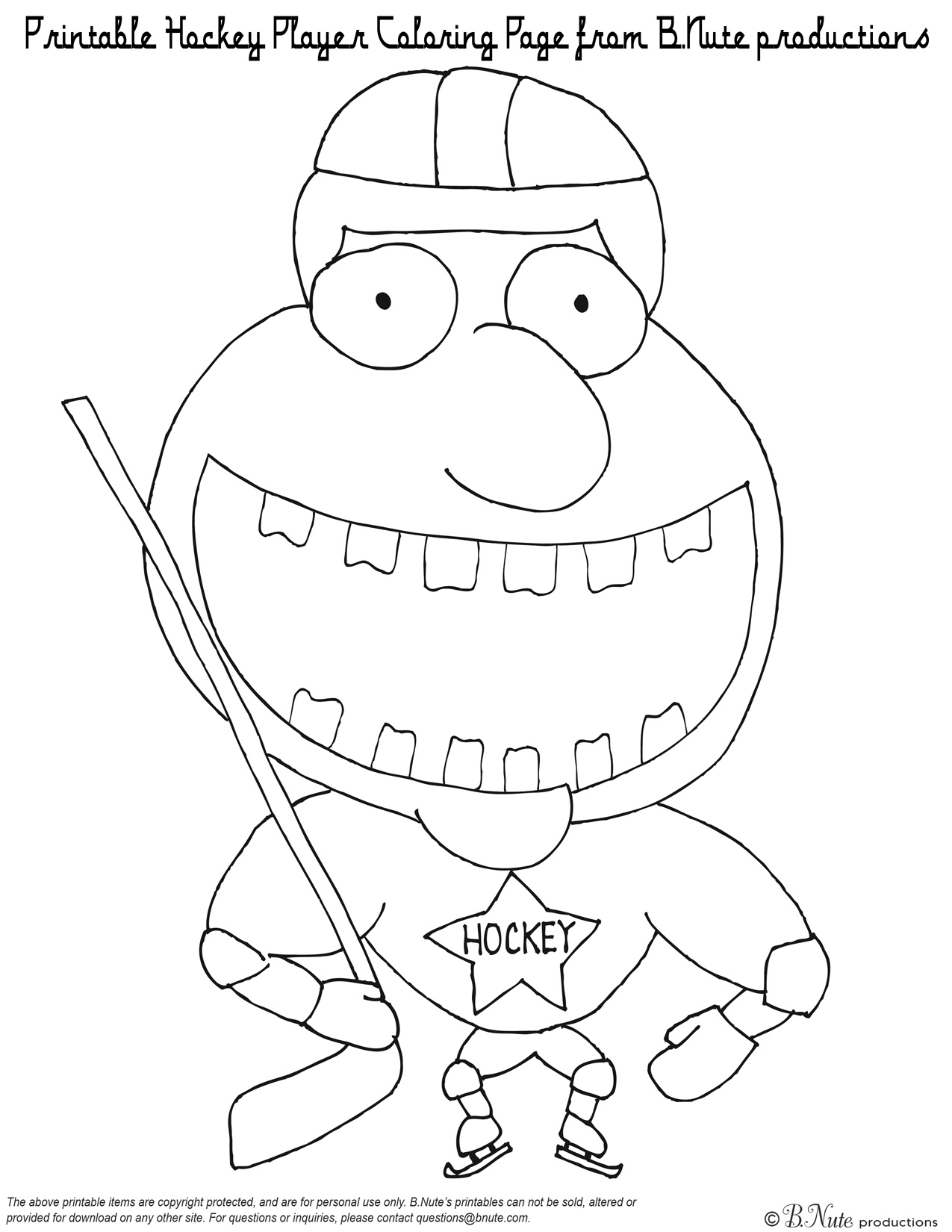 Hockey player coloring pages coloring pages for Hockey coloring pages printable