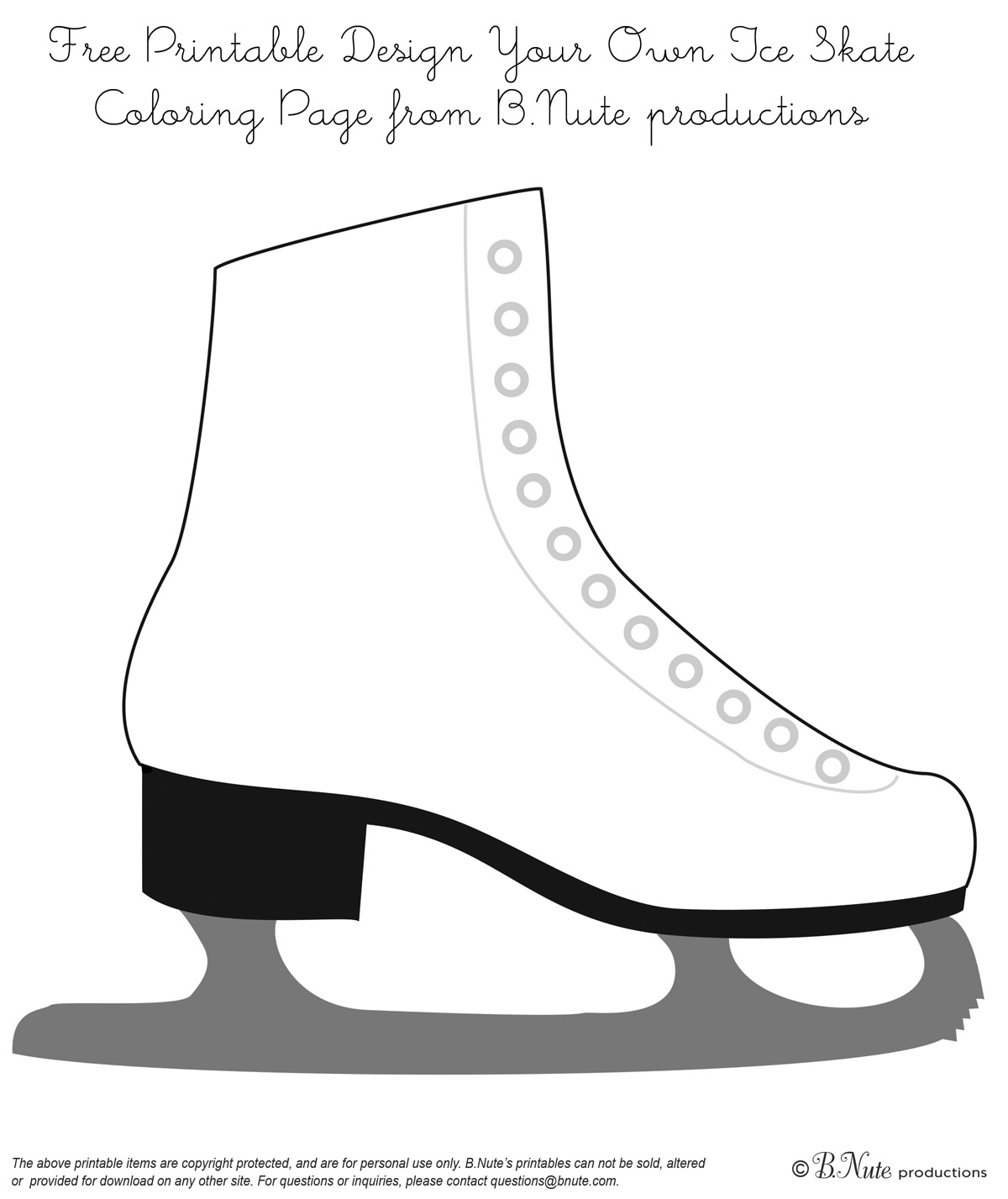 Adult Cute Design Your Own Coloring Pages Images beauty bnute productions free printable coloring page design your own ice skate from b nute gallery images