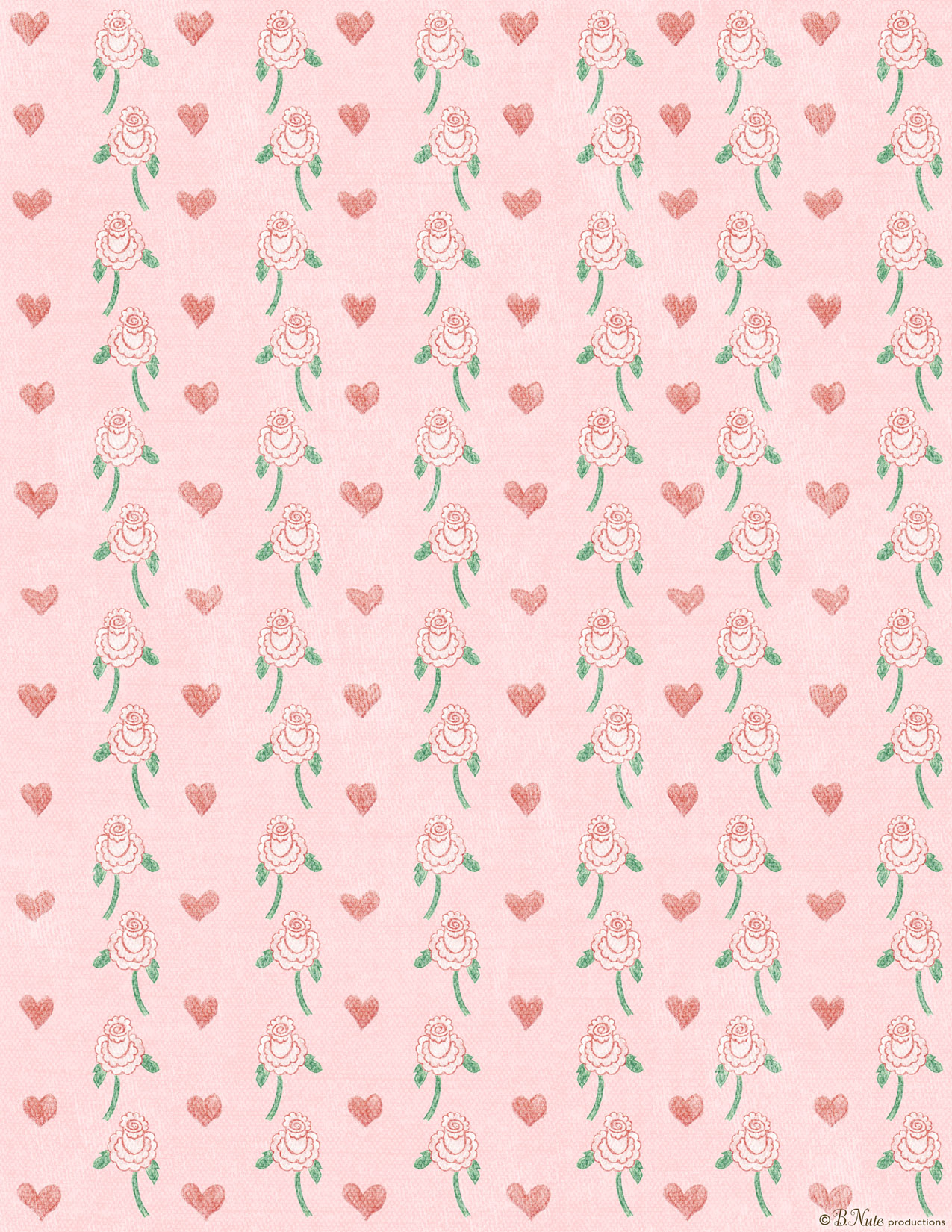 Bnute productions free printable valentine craft or scrapbook paper free printable hearts n flowers valentines craft paper by bte productions jeuxipadfo Choice Image