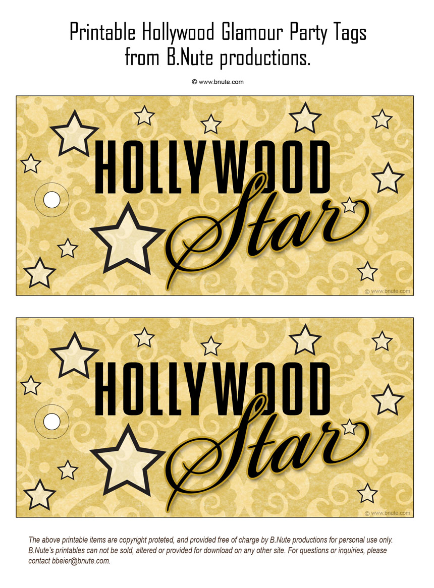 Hollywood Glamour Party: Invitations, Decorations, Art Activites ...