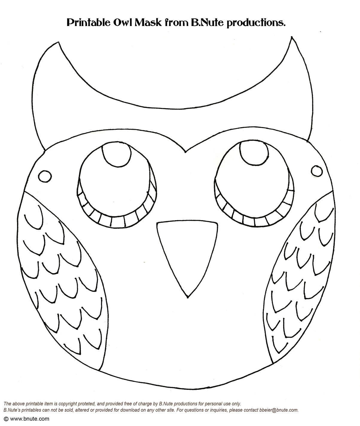 Adaptable image with regard to free printable animal masks