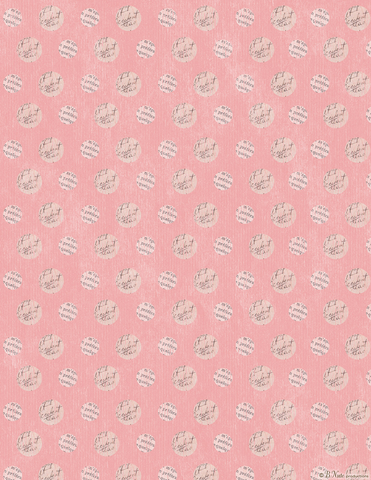 Bnute productions free printable valentine craft or scrapbook paper free printable polka dot valentine craft paper by bte productions jeuxipadfo Images