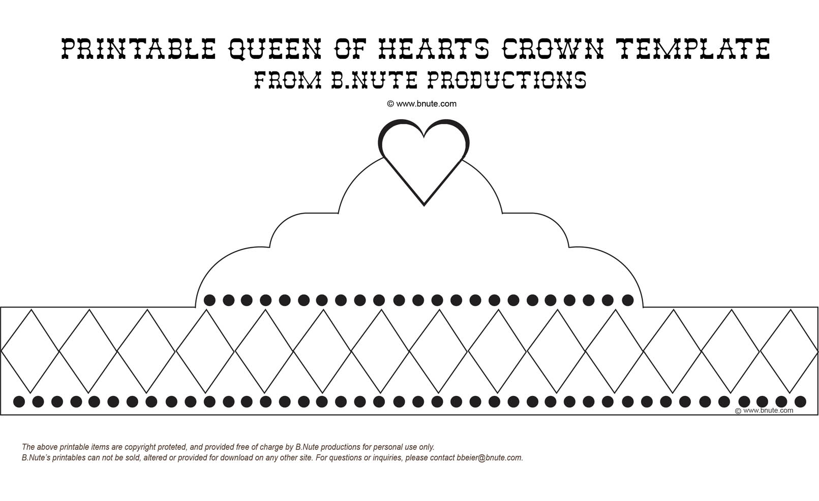paper crown template for kids - bnute productions mad hatter tea party printable queen
