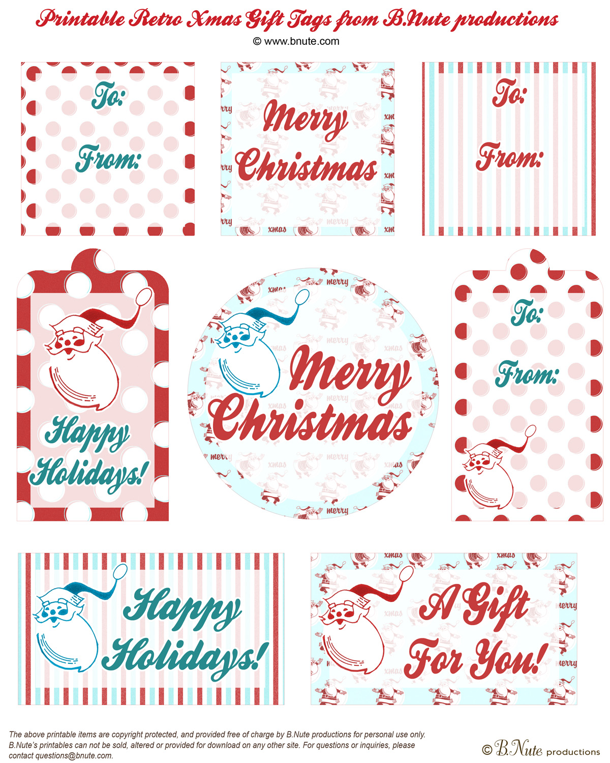 Christmas gift labels free