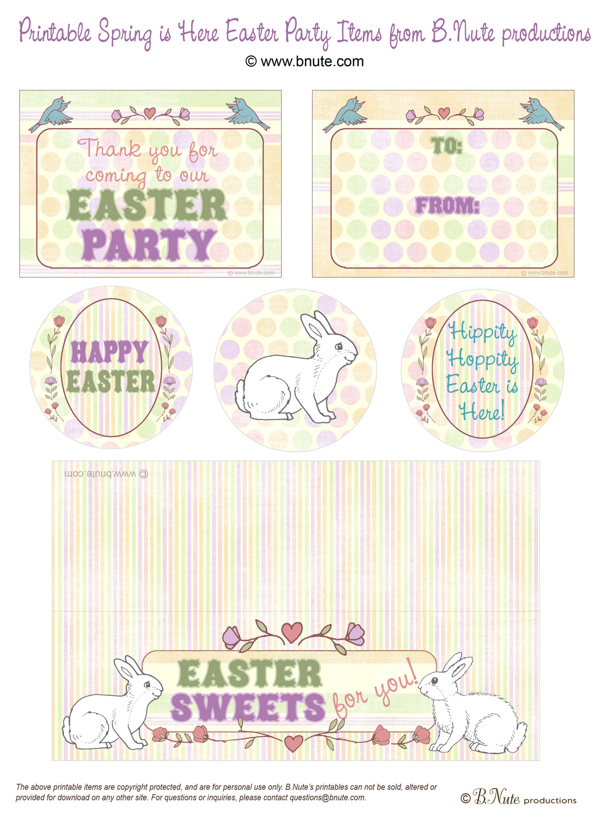 Free Easter Worksheets : Bnute productions free easter printables spring is here