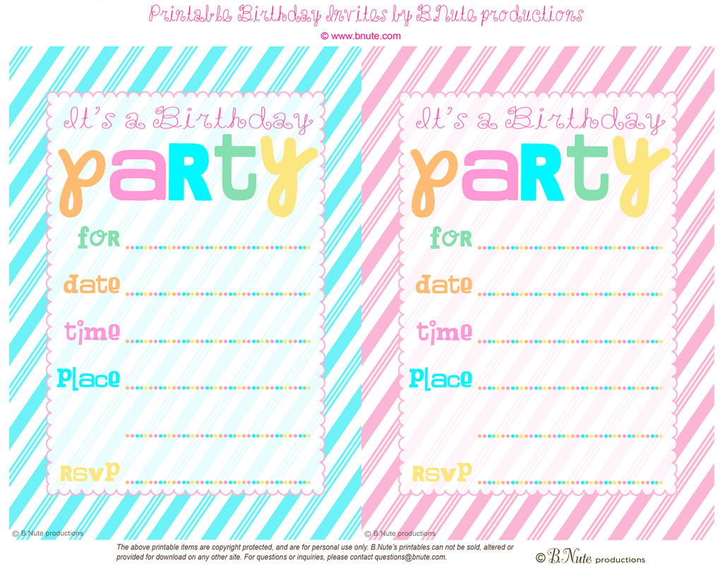free birthday invitations printable koni polycode co