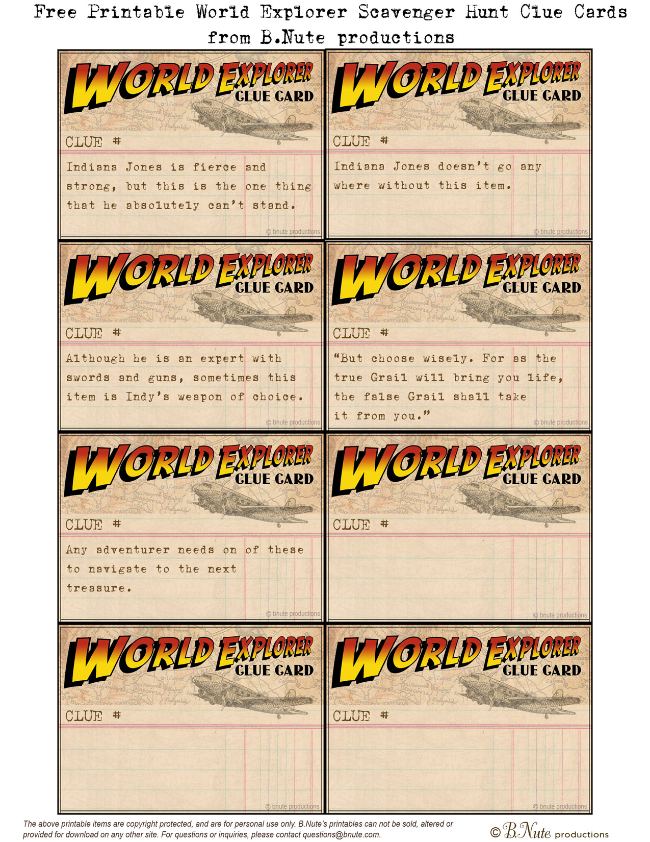 photo about Clue Printable Sheets known as bnute productions: Totally free Printable Entire world Explorer Indiana