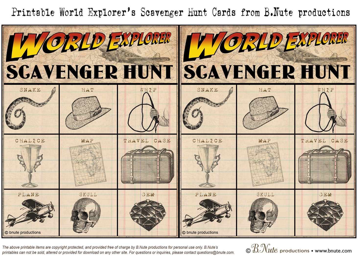 image relating to Clue Cards Printable titled bnute productions: Totally free Printable Planet Explorer Indiana