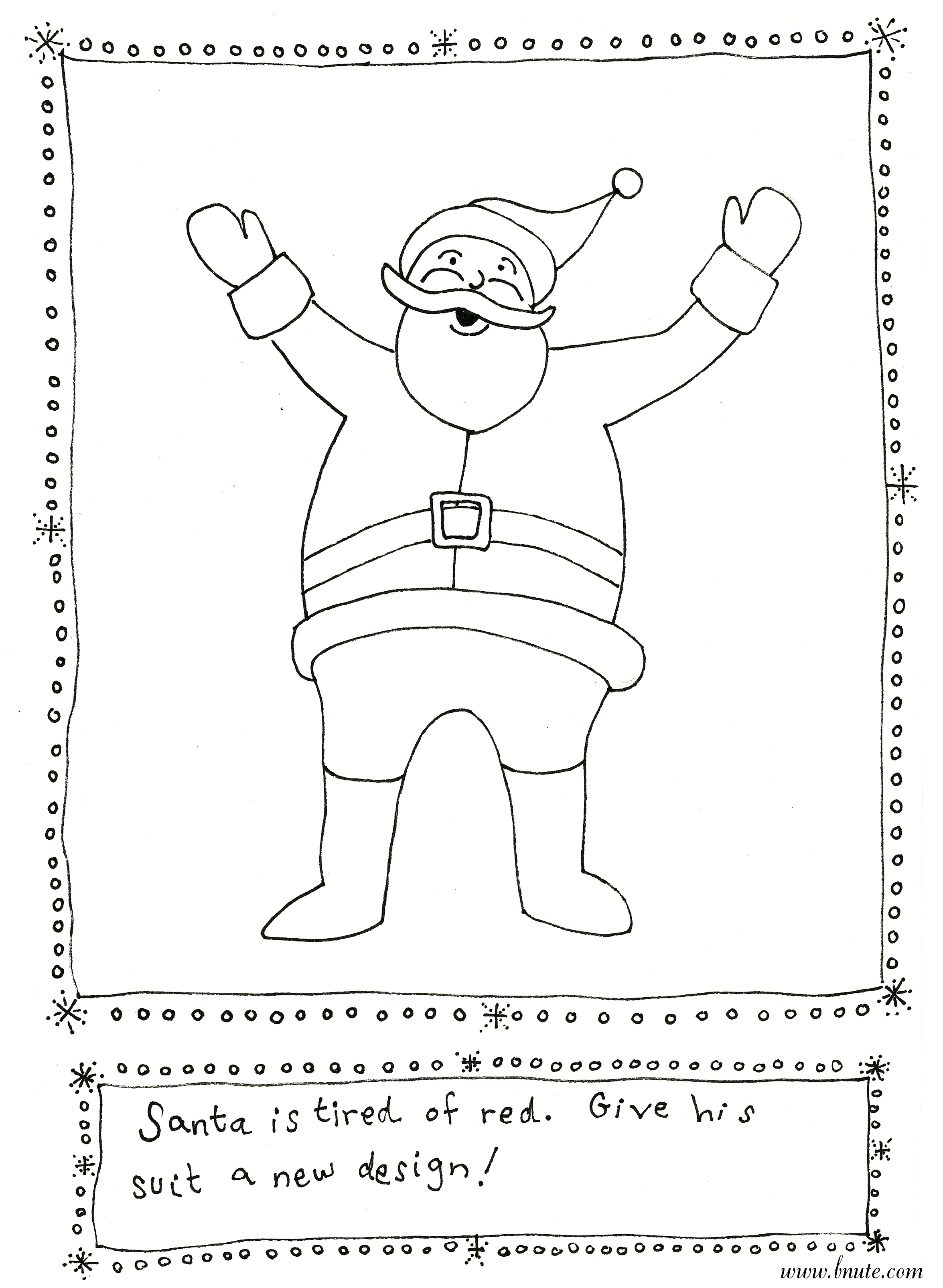 More Christmas Printable Art Activities - Santa's Outfit Redesign and ...